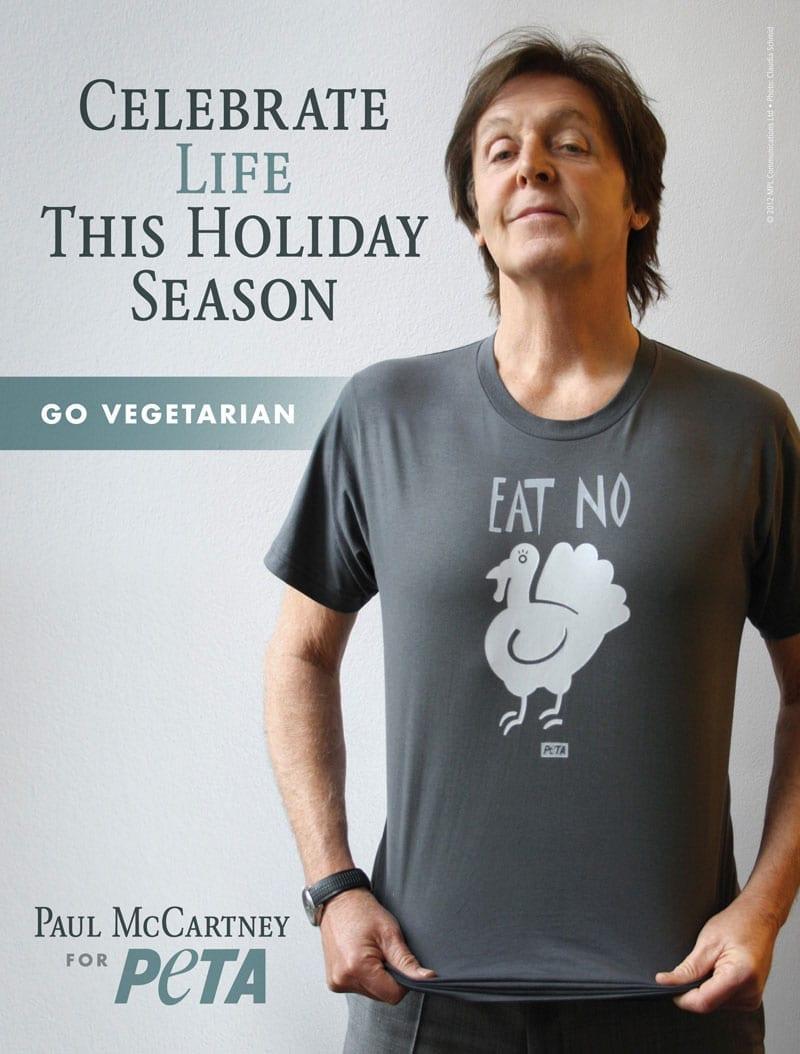 McCartney pede para celebrar vida