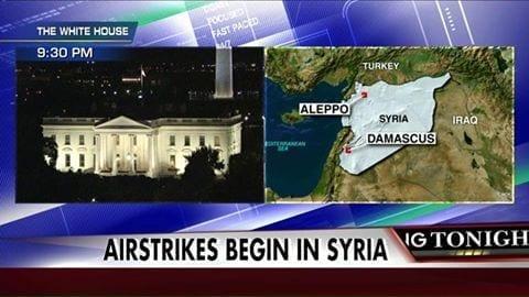 Estados Unidos começam a bombardear a Síria