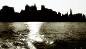 skyline 1288 2 300x170 Silouette of Manhattan, New York.