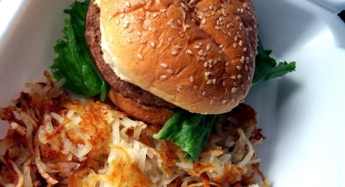 O melhor hamburger de Nova Iorque não tem carne