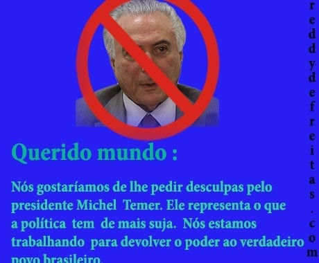 Brasileiros pedem desculpas ao mundo