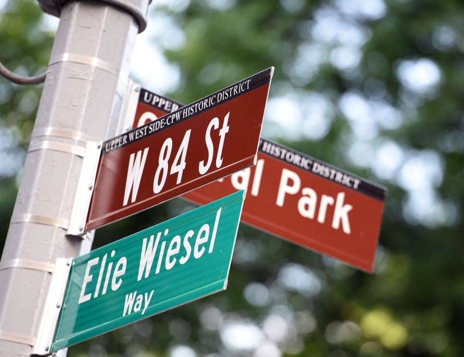 Elie Wiesel Wiesel vira nome de rua em Nova Iorque