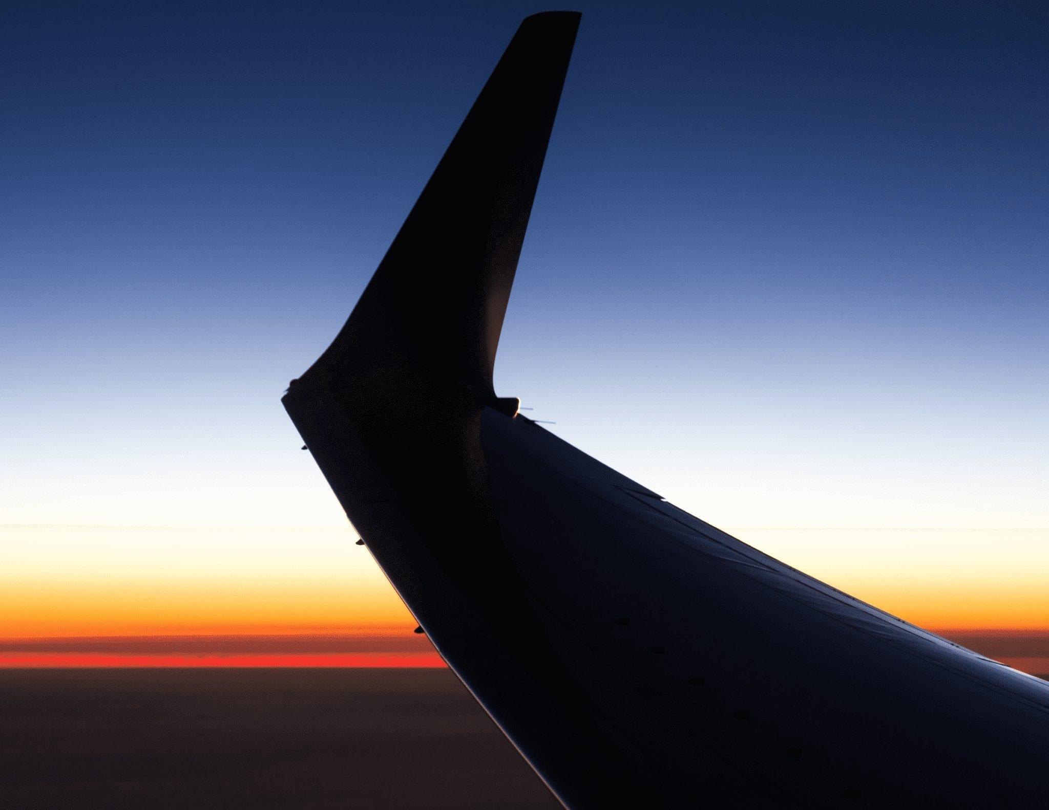 O espaço aéreo  dos Estados Unidos