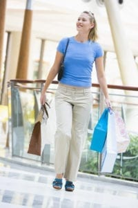 consumers123 200x300 Young woman shopping in mall