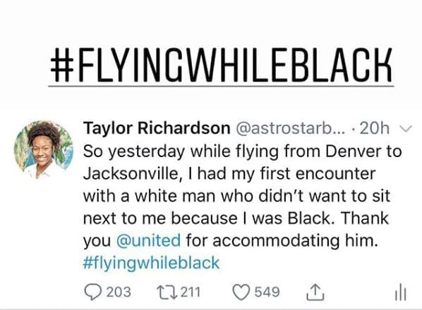 united1 Um passageiro da United Airlines se recusou a sentar se ao lado da garota, 16, porque ela era negra