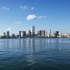 MIAMI 300x300 Waterfront skyline, Miami.