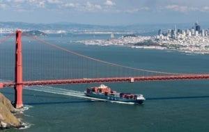 SAN FRANCISCO 300x190 MOL Guardian Container ship entering San Francisco Bay under Golden Gate Bridge