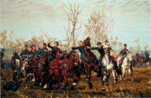 Civil War Battle Scene 1887 William T Trego 300x196 1 Civil War Battle Scene 1887 William T Trego