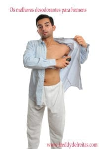 deso 200x300 Man using underarm deodorant perspirant spray