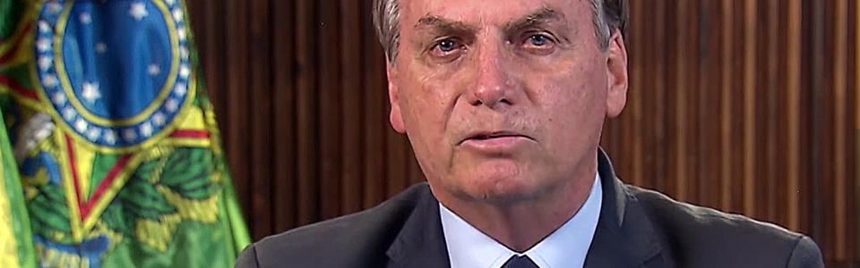 O presidente Jair Bolsonaro faz pronunciamento oficial sobre a declaração de pandemia do coronavírus pela Organização Mundial da Saúde (OMS).